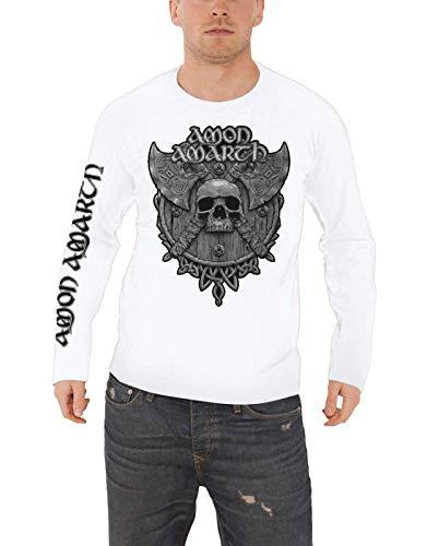 Amon Amarth Grey Skull (White) Longsleeve XXL