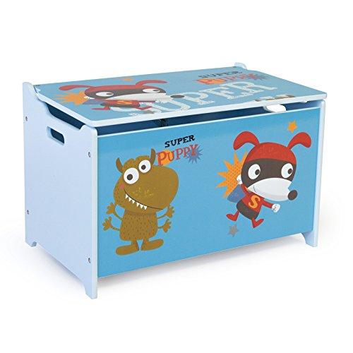 Homestyle4u Spielzeugkiste Schmetterling Spielzeugtruhe, 60x35x38cm - 6