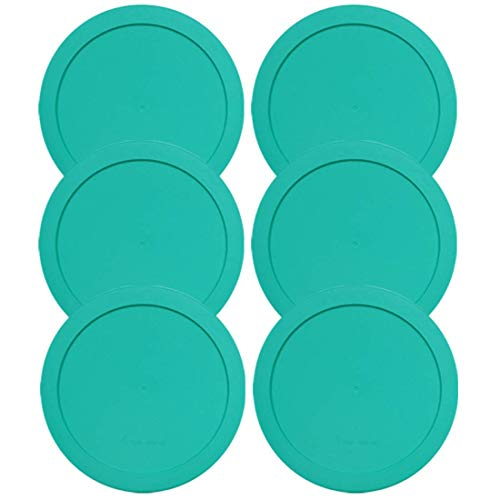 Lids for Pyrex and Anchor Round Glass Containers (2-Cups, Green-6PK)