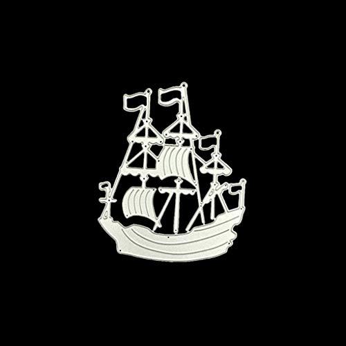 sunhoyu Stanzschablonen Metall Album,Scrapbooking Stanzschablone Stanzen Schneiden Schablonen Stanzformen für DIY Scrapbooking Album,Großes Schiff *