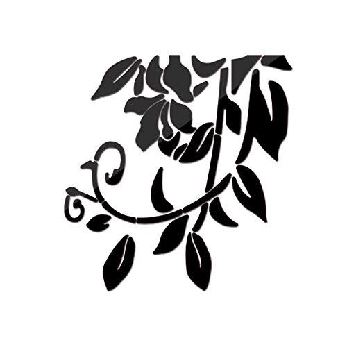 Pegatinas De Pared Fondo De Pantalla Decoración De Pared Bricolaje Creativo Deja Fondo Acrílico Muebles Espejo Pegatinas Para Arte Salón Bodegón Pegatina Decoración Del Hogar-C-30X37Cm