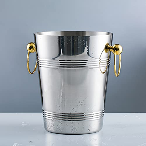 ZZWBOX Cubitera,Cubitera de Acero Inoxidable,Enfriador de Cerveza Vino Champán para Bares,Fiestas