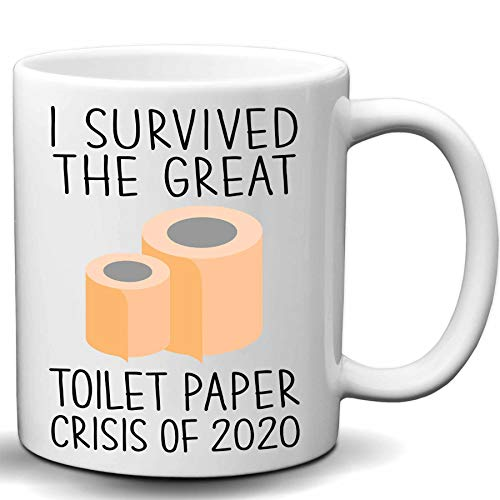I Survived The Great Toilet Paper Crisis Of 2020 Novelty White 11 OZ Coffee Mug Gift for 2020 Quarantiners Toilet Paper Crisis Joke Mug Tea Cup