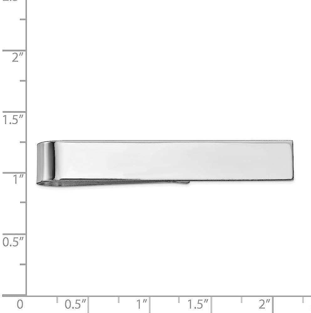 Solid 14k White Gold Men's Tie Bar