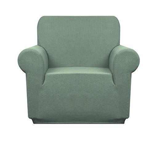 Granbest Funda de sofá Impermeable Funda Sillón elástica Protector de Sofá Antideslizante(1 Plaza, Verde Matcha)