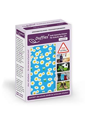 Anti-Geruchsbeutel für Schuhe und Taschen, beseitigt Gerüche in Schuhen, Turnschuhen & Sporttaschen, mit Bambus-Aktivkohle, Luftreinigungsbeutel, tolles Design, Duffie (2 x 150g) (Blumen)