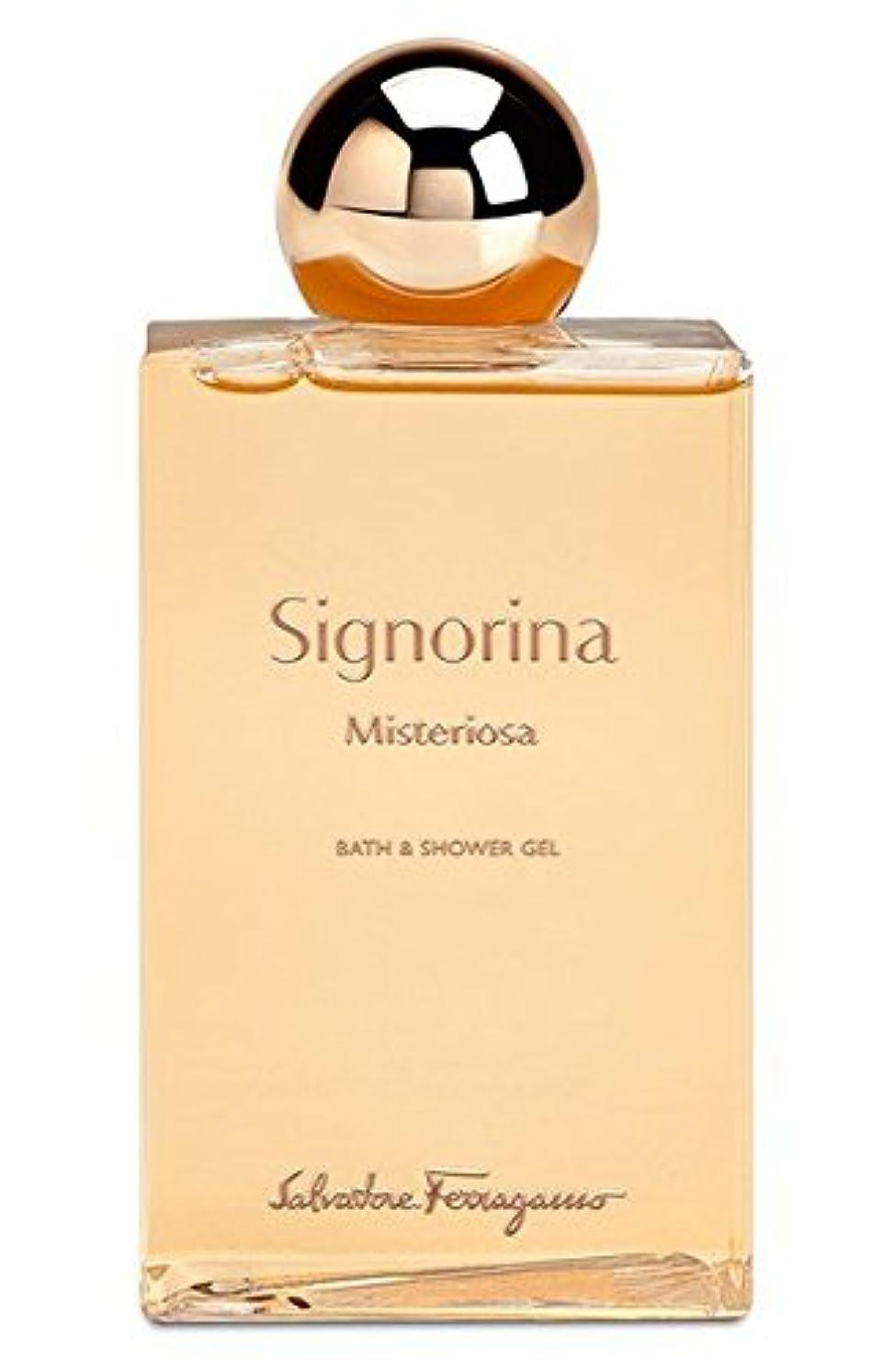 造船機密ゆりSignorina Misteriosa (シグノリーナ ミステリオサ) 6.8 oz (200ml) Bath & Shower Gel by Salvatore Ferragamo for Women
