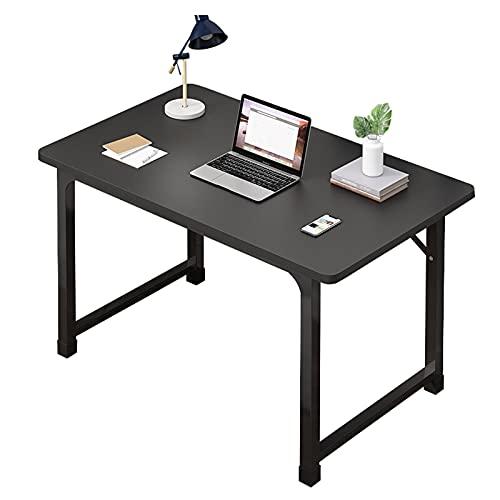 Escritorio de computadora Escritorio de oficina moderno y resistente de 39,4 pulgadas Mesa de escritura de estudio Estación de trabajo del ordenador portátil de la PC para la oficina en casa,Negro