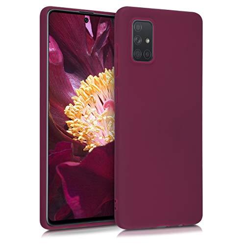 kwmobile Hülle kompatibel mit Samsung Galaxy A71 - Handyhülle - Handy Hülle in Bordeaux Violett