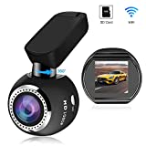 WiFi Dash Camera, SIV Car Dash Cam Full HD 1080P Car Camera Recorder, Car Mini Dash Cam with 1.54' LCD 170° Wide Angle, 360° Rotate Mount, Sony Sensor, G-Sensor, WDR,Loop Recording(Include TF Card)