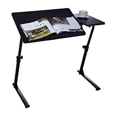 Standing Desk 31.5 x 15.7 Inches Height Adjustable Desk (19.7-30 inches) Sit Stand Desk Base Home Office Table Stand up Desk (Black,Gold) (Black)