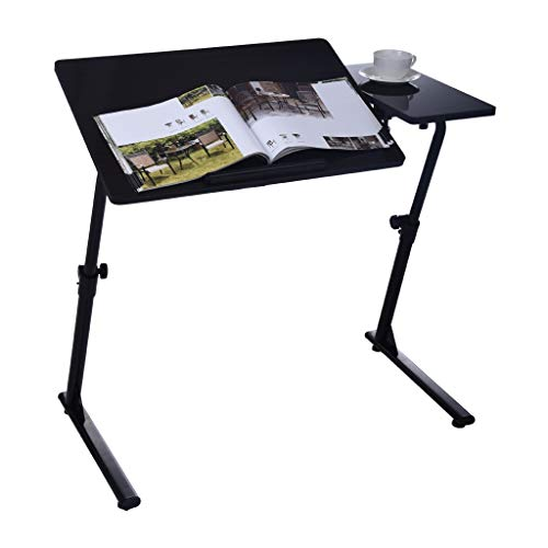 Fine Computer Desk, Home Office Desk Can Be Raised and Lowered Folding TV Tray, Portable Standing Desk, Notebook Stand Reading Holder Sofa Table Laptop Desk (Black)