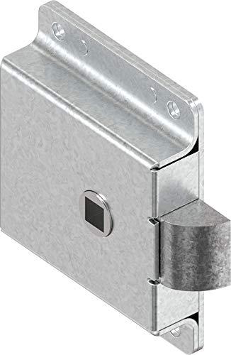 CTA Dichtungen 1x Federriegel Fallenschloss 8mm Vierkant Stahl verzinkt 1C34-U01