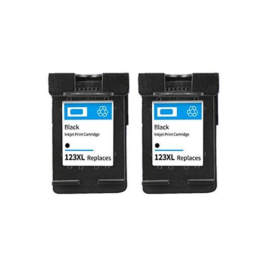 ZITENG CGBH For HP123XL Tinta 123XL Cartucho Compatible for HP123 for HP Deskjet 2130 2132 3630 1110 3632 4520 5010 5020 5030 Impresora (Color : 2 Black)