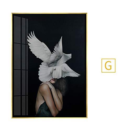JUE fotolijsten 6 X 4 Frame Rose Gold Wall Art Koper fotolijsten Landschap fotolijst fotolijst Glas A (Kleur : G, Maat : 80X100 (PS frame))