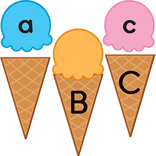 Really Good Stuff Matching Scoops and Cones Activity - Upper & Lowercase Letters