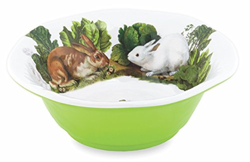 Michel Design Works Melamine Medium Serving Bowl, Garden Bunny