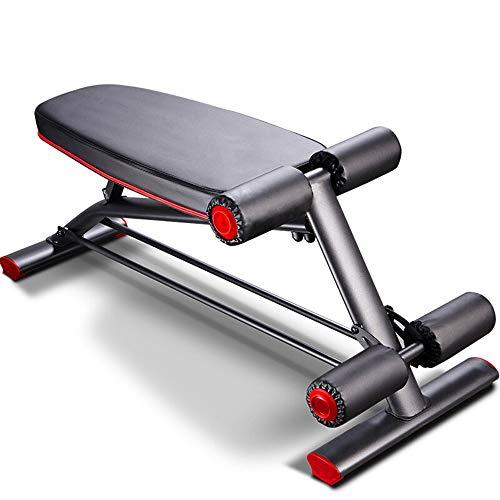 Outdoor Life Banco de fitness para el hogar, plegable, equipo de fitness portátil, color negro