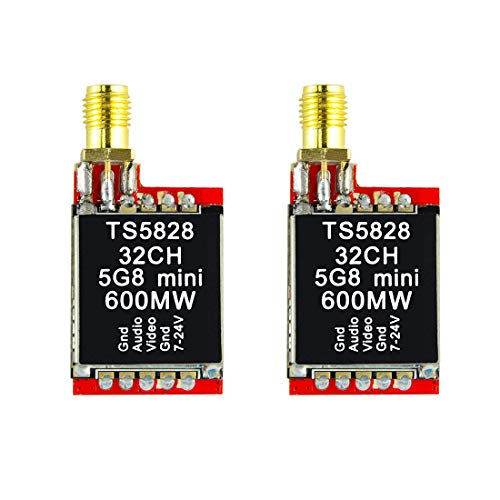Wolfwhoop WT5828 5.8G 600MW 32CH FPV Video Transmitter for Quadcopter-2PCS