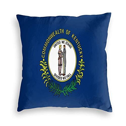 SUN DANCE Kentucky - Funda de cojín decorativa con diseño de bandera del estado para sofá, coche, cama, 50,8 x 50,8 cm