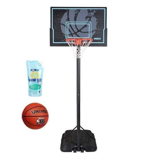 "Lifetime 44"" Impact Adjustable Portable Basketball Hoop, 90759 (Black, 44"" with Ball/BaseGel)"