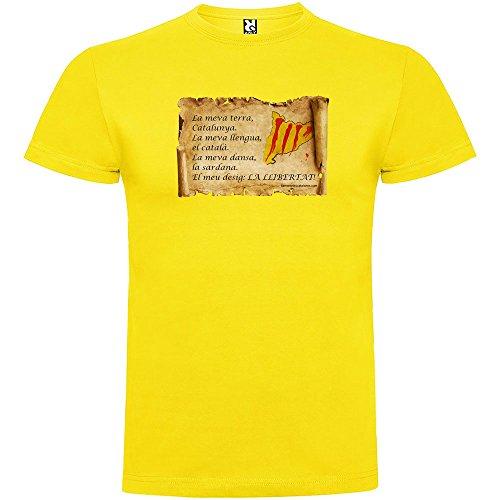 Camiseta Catalunya Maragall Manga Corta Hombre Amarillo 2XL