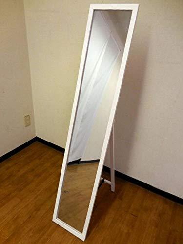 『NaturalHouse スタンドミラー 白 幅27cm 高さ140cm 木製 飛散防止加工』の8枚目の画像