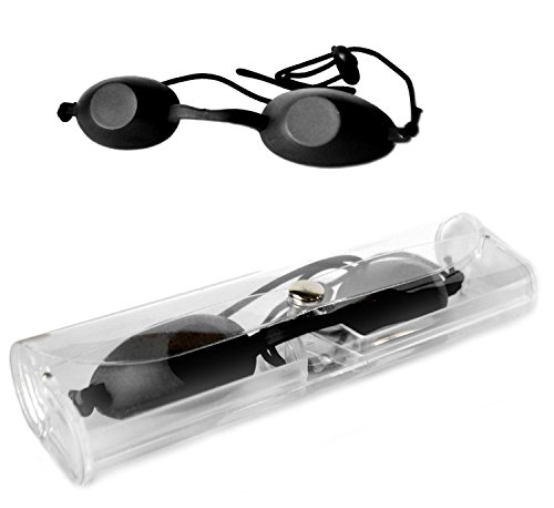 Smyrna Laserschutz-Brille, Sicherheitsbrille, IPL (Intensiv gepulstes Licht), für die Schönheitsklinik, schwarz