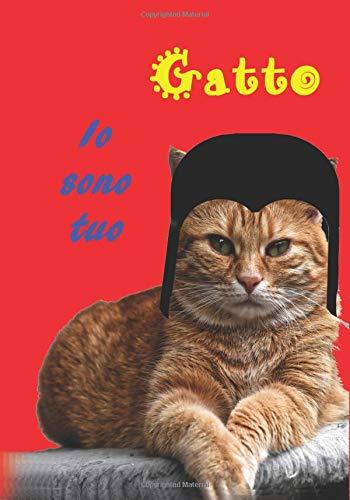 Notebook Sono il tuo gatto: Regalo divertente per gli amanti dei gatti che usano quaderni e quaderni per conservare il ricordo della loro passione.