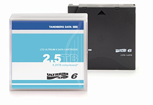 Tandberg Cartridge LTO6 with case