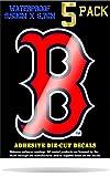 Wakuma, Boston Red Sox Vinyl Decal Sticker Set. 2.7 x 3.8 inch 5 Pack