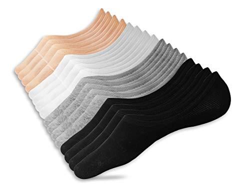 Eedor Women's 8 Pairs Thin No Show Socks Non Slip Flat Boat Line