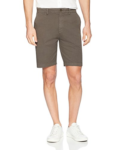 "Amazon Brand - Goodthreads Men's Slim-Fit 9"" Inseam Flat-Front Comfort Stretch Chino Shorts, eiffel tower, 34"