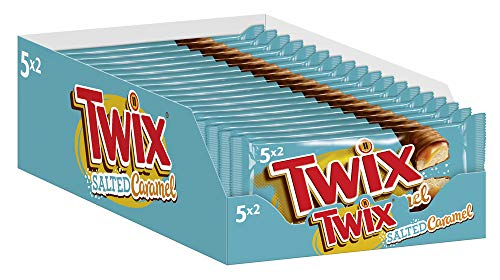 Twix Schokoriegel | Salted Caramel, Keks | Jeweils 5 Riegel in 18 Packungen (18 x 230 g)