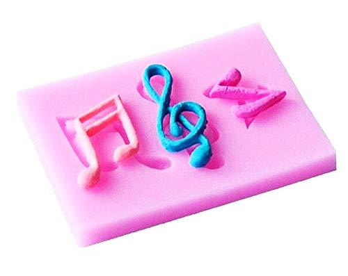 Lovelegis Dos Notas Musicales y un Molde de Silicona con Clave de...