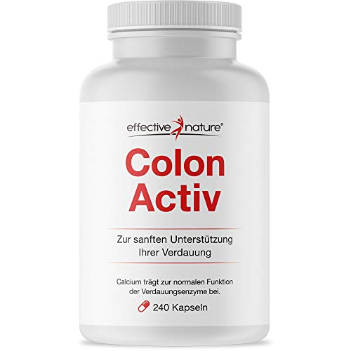 effective nature Colon Activ mit effektiver Nährstoffkombination - Schonende Darmkur mit Simple Clean Sensitve (240 Vegetarische Kapseln)