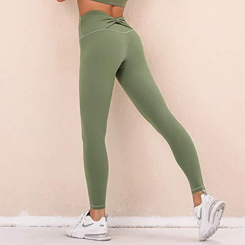 Charm4you Push Up Mujer Mallas Pantalones,Nuevos Pantalones de Yoga Deportivos Ajustados con Levantamiento de Cadera de Secado rápido-Army Green_L #,Leggings Mujer Fitness Suaves Elásticos