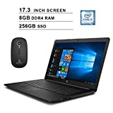 2020 HP Pavilion Newest 17.3 Inch Laptop, Intel Core i5-7200U up to 3.1GHz, Intel HD 620, 8GB DDR4 RAM, 256GB SSD, Windows 10, Black + NexiGo Wireless Mouse Bundle (Renewed)