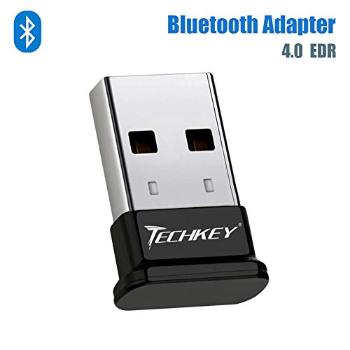 Bluetooth Adapter for PC USB Bluetooth Dongle 4.0 EDR Receiver TECHKEY Wireless Transfer for...