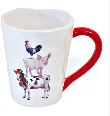 MIABE- Country Ceramic Cow Rooster Farm Christmas Max 88% OFF A surprise price is realized Sta Pig Animal