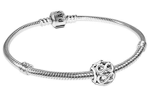 Pandora Armband Starterset Unendlichkeit 925 Silber Damenarmband für Charms 08051-19 19 cm