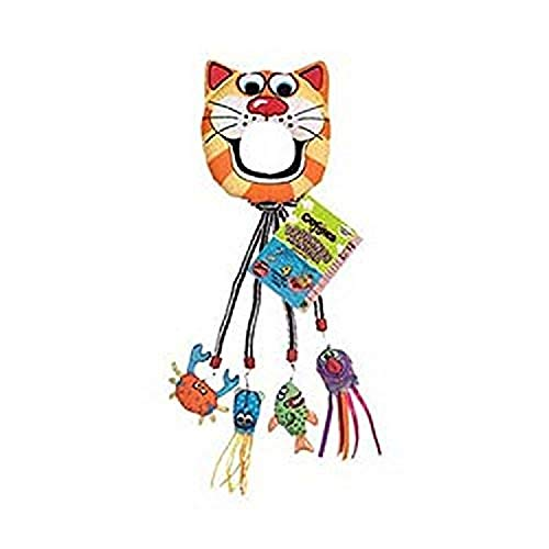 Fat Cat Catfisher Doorknob Hanger with 4 Catnip Lures