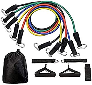 11pcs Latex Resistance Bands for gym excrises and yoga
