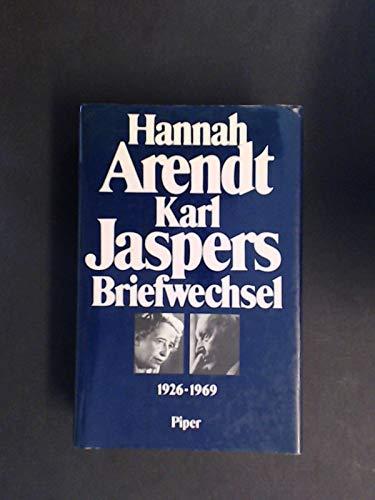 Hannah Arendt/Karl Jaspers Briefwechsel, 1926-1969 (German Edition)