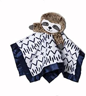 Security Blanket Baby Plush Stuffed Animal Toy Sloth Cuddly Soft Small Brown Gray
