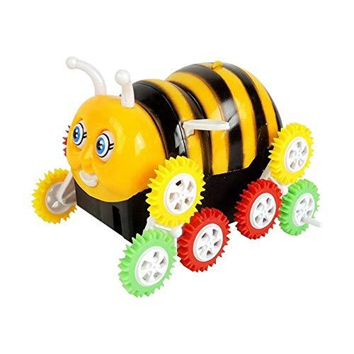 CHUJIAN Hot Kids elektronisch speelgoed Bee Truck Stunt auto elektrisch aangedreven speelgoed Bee Dump Truck for kinderen, meisjes, jongens puzzel Toys Car Gift (Color : Yellow)