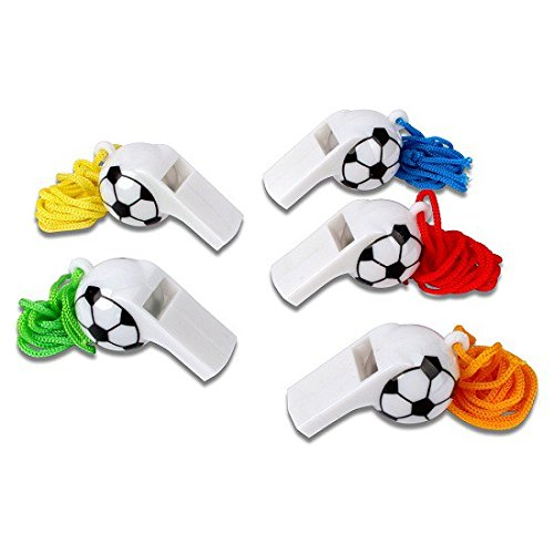 Schramm® 12-pack fluitje plastic voetbal design fluitje voetbal scheidsrechtersfluitje fluitje