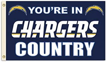 NFL Los Angeles Chargers 3 Ft. X 5 Ft. Flag with Grommetts, Team Colors, one size
