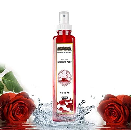 INDUS VALLEY Natural Rose Water/Skin Toner - Organic Gulab Jal- Chemical Free 250 ml