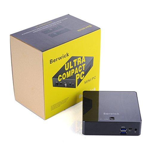 Berwick Mini PC Ubuntu16.04 Ultra Compact PC Skylake i7-6500U 802.11AC WIFI Gigabit LAN HDMI USB3.1 SSD+8G DDR3L (i7-6500U+240G SSD)